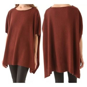 Vince ribbed rust oversized poncho pre owned